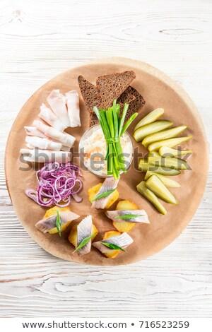 káposzta · saláta · tál · asztal · egészség · nyár - stock fotó © monkey_business