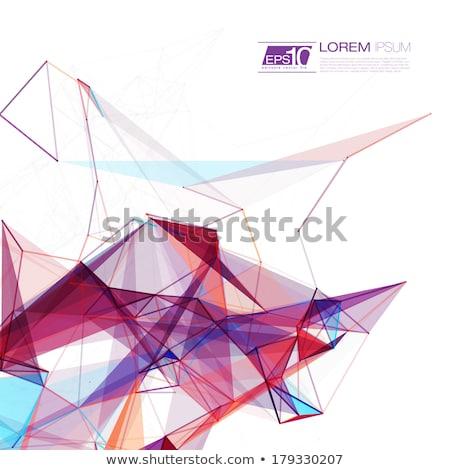 purple abstract polygonal background stock photo © molaruso