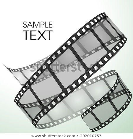 3d film strip on gray background design Stock photo © SArts