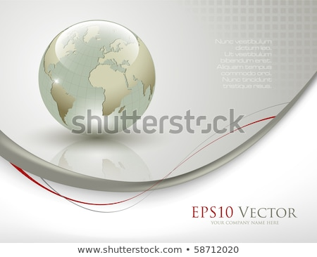 Business elegant abstract background with globe.  stock photo © fresh_5265954