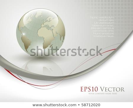 arany · földgömb · eps10 · gradiens · átláthatóság · háló - stock fotó © fresh_5265954