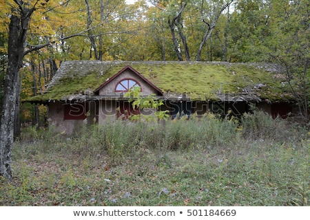 gebroken · glas · oude · huis · hemel · gebouw · bouw · home - stockfoto © tracer