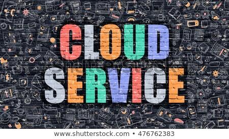 felhő · szolgáltatás · digitális · arany · szín · szöveg - stock fotó © tashatuvango