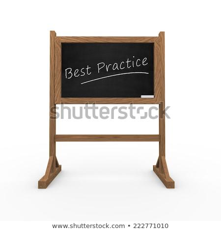 良い アイデア 文字 黒 黒板 3D ストックフォト © tashatuvango