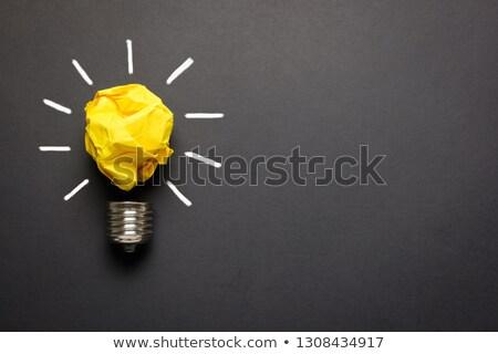 Foto stock: Criador · amarelo · papel · velho · máquina · de · escrever