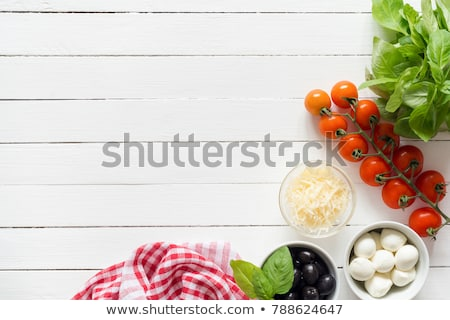 Stock photo: parmesan cheese, vegetables and olive oil