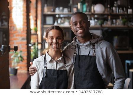 Businessman and colleague in a restaurant Stock photo © wavebreak_media
