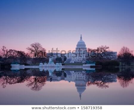 Świt · za · posąg · wolności · świcie · niebo - zdjęcia stock © backyardproductions