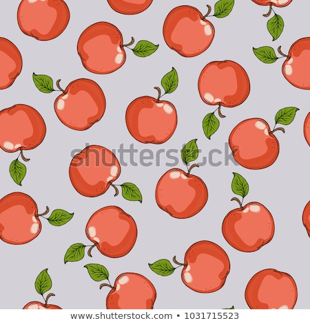 Apples seamless pattern. Red Apple endless background, texture. Fruits background. Vector illustrati Stock photo © lucia_fox