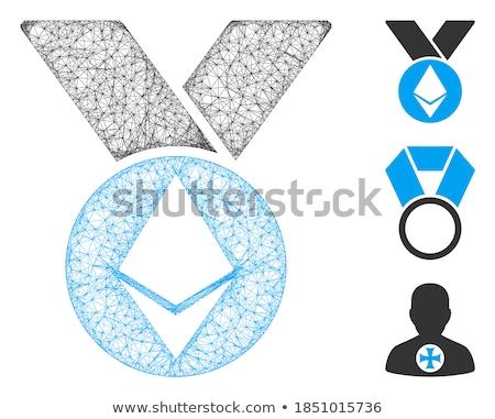 медаль икона вектора пиктограммы применение Сток-фото © ahasoft