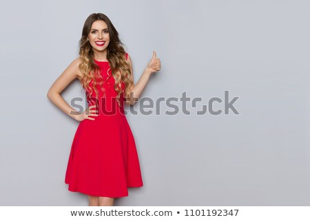 excited woman with ok sign Stock photo © LightFieldStudios