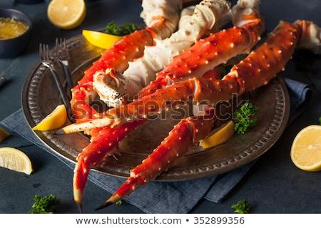 Alaska rey cangrejo mariscos hielo fondo Foto stock © vichie81