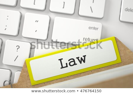 Archive Bookmarks of Card Index with Law. 3D Stock photo © tashatuvango