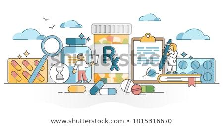 hólyag · orvosi · tabletták · gyógyszeripari · sztetoszkóp · zöld - stock fotó © tashatuvango