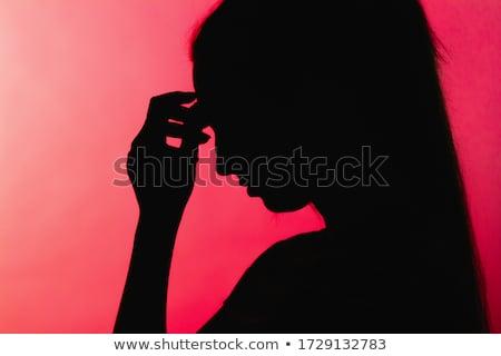Gyengeség orvosi piros elmosódott szöveg tabletták Stock fotó © tashatuvango