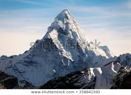 Everest Dağı manzara kuzey yüz gökyüzü kar Stok fotoğraf © bbbar