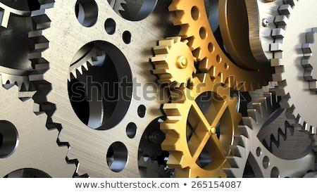 Dourado roda dentada engrenagens engenharia engrenagens Foto stock © tashatuvango