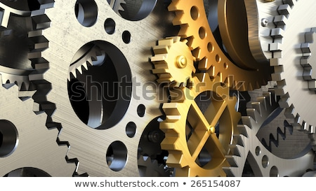 production · or · Cog · engins · métallique · mécanisme - photo stock © tashatuvango