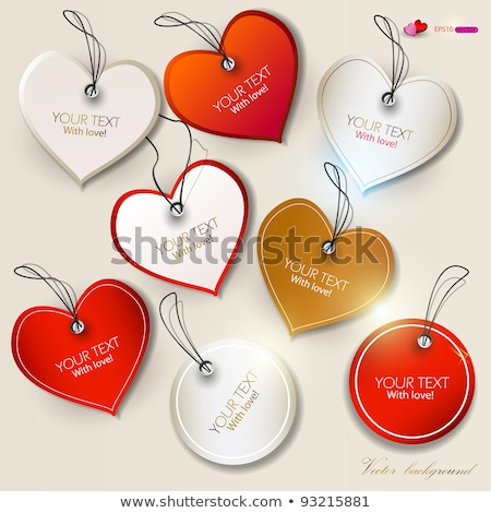 Stock photo: Golden Valentines Day Icons Set
