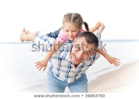 nagyapa · medence · baba · arc · férfi · boldog - stock fotó © is2