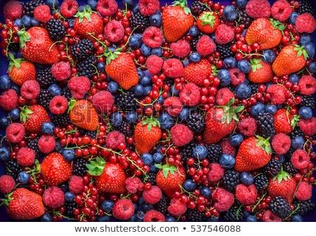 Finom bogyós gyümölcs étel piros reggeli desszert Stock fotó © M-studio