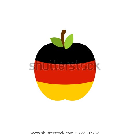 Apple Germany flag. German National Fruit. Vector illustration Stock photo © popaukropa