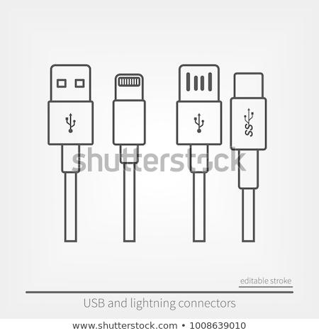 batterie · niveau · icônes · vert · bleu · électricité - photo stock © kup1984