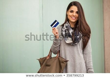 vrouw · creditcard · naast · kleding · display - stockfoto © wavebreak_media