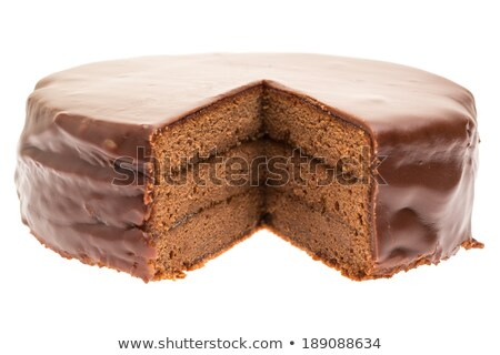 Chocolate cake with missing slice Stock photo © IS2