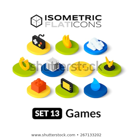 Constructor isometric icon, isolated on color background Stock photo © sidmay