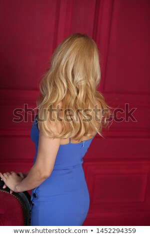 back of woman in red dress  l Stock photo © ssuaphoto