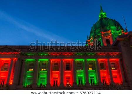 San Francisco City Hall Lit in Green. Stock photo © yhelfman
