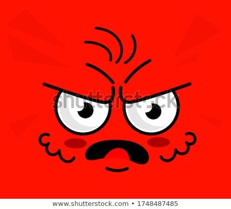 Cartoon cuadrados tristeza cara Foto stock © hittoon