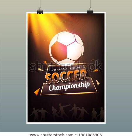 futebol · cartaz · jogadores · fãs · grunge · elemento - foto stock © sarts