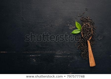 Black tea background stock photo © Melnyk