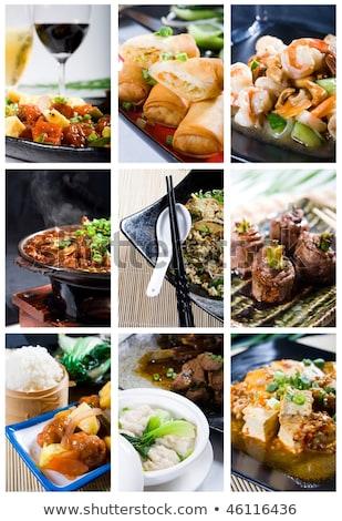 Kínai étel rizs marhahús étel ázsiai kínai Stock fotó © BarbaraNeveu