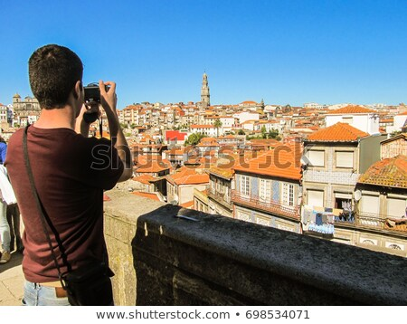 man taking a picture of Porto, Portugal Stock photo © nito