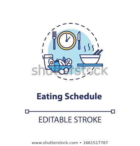 Yeme zamanlamak diyet yemek zaman planlama Stok fotoğraf © Lightsource