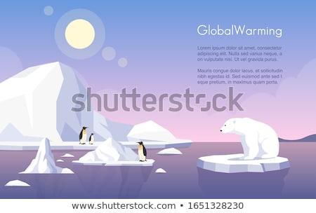 Global warming banner template. Stock photo © RAStudio
