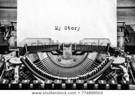 Histoire vintage machine à écrire bureau papier Photo stock © sqback