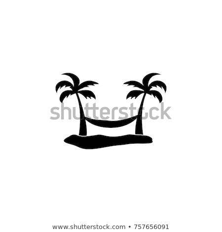 verano · salón · palmera · isla · tropical · ilustración · vector - foto stock © lady-luck