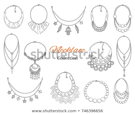 Collection of Jewelry Necklaces Precious Stones Stock photo © robuart