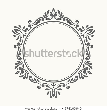 Kontur Rahmen blättern Set schwarz isoliert Stock foto © blackmoon979