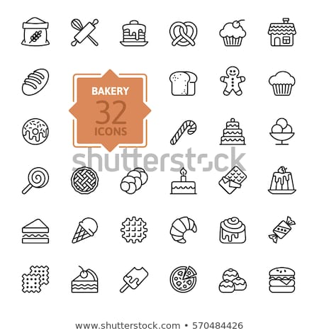 Set of bakery element collection Stock photo © bluering