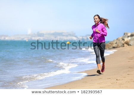 Sorrindo corrida San Francisco cidade fitness esportes Foto stock © dolgachov