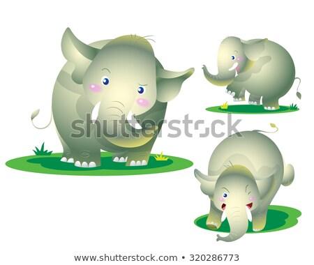 cute elephant naughty action Stock photo © watcartoon