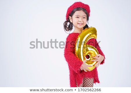 a girl holding number six stock photo © bluering