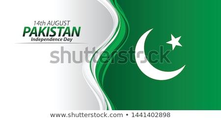 Badge ontwerp Pakistan vlag illustratie achtergrond Stockfoto © colematt