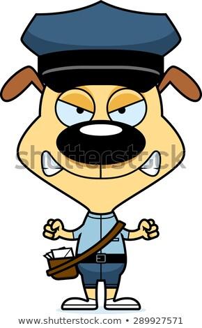 Cartoon arrabbiato mail cucciolo guardando cane Foto d'archivio © cthoman