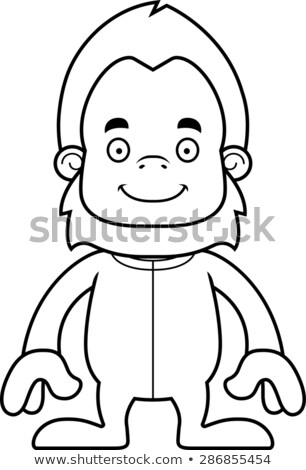 Cartoon Smiling Sasquatch In Pajamas Stock photo © cthoman